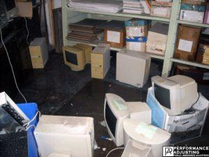 computers and files ruined from water damage business interruption in Warwick, Rhode Island