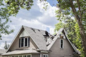 residential roof damage ri