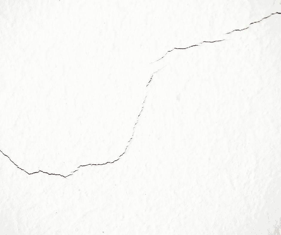crack in wall from water damage