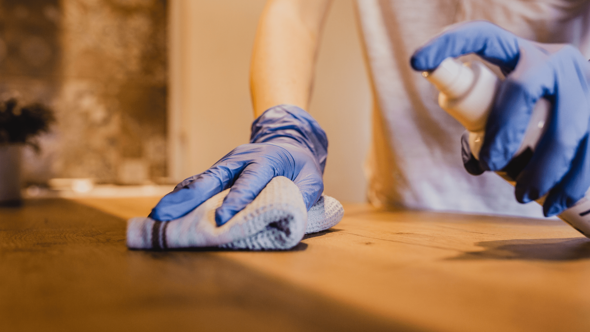 cleaning chemicals in the air