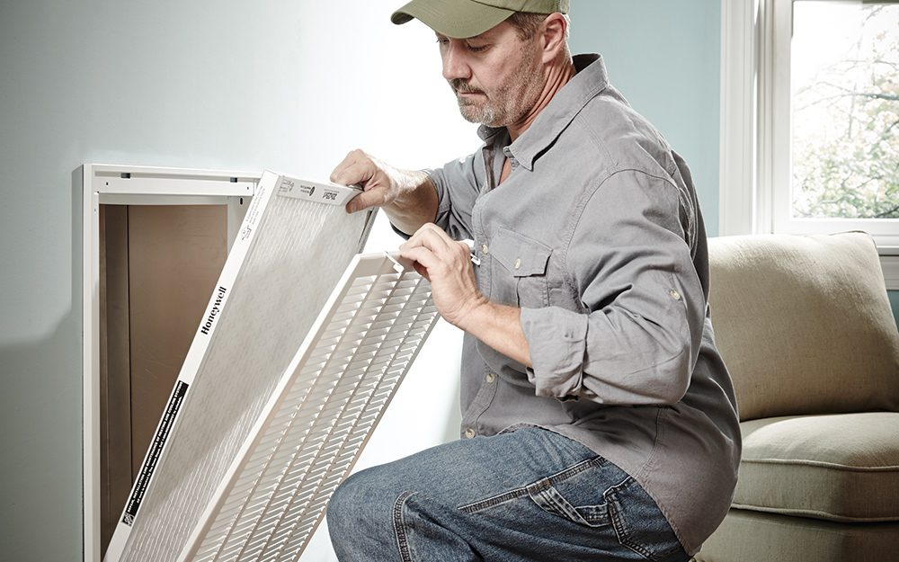 change the air filters in your house for spring