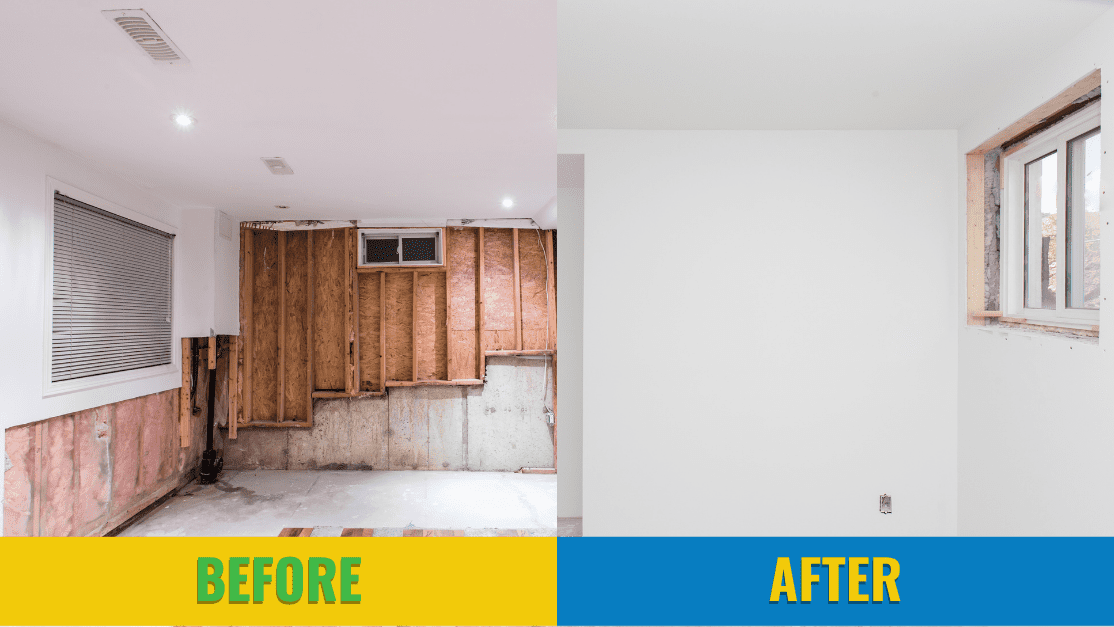 diy repairs to your flooded basement can be tough work. By hiring a restoration company, you are saving yourself the time and money. repair flooded basement. Flooded basement repair.
