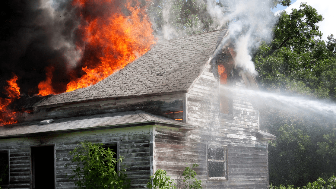 fire damage restoration after fireworks. Once the fire is out the authorities will inspect the house for any structural concerns before proceeding.