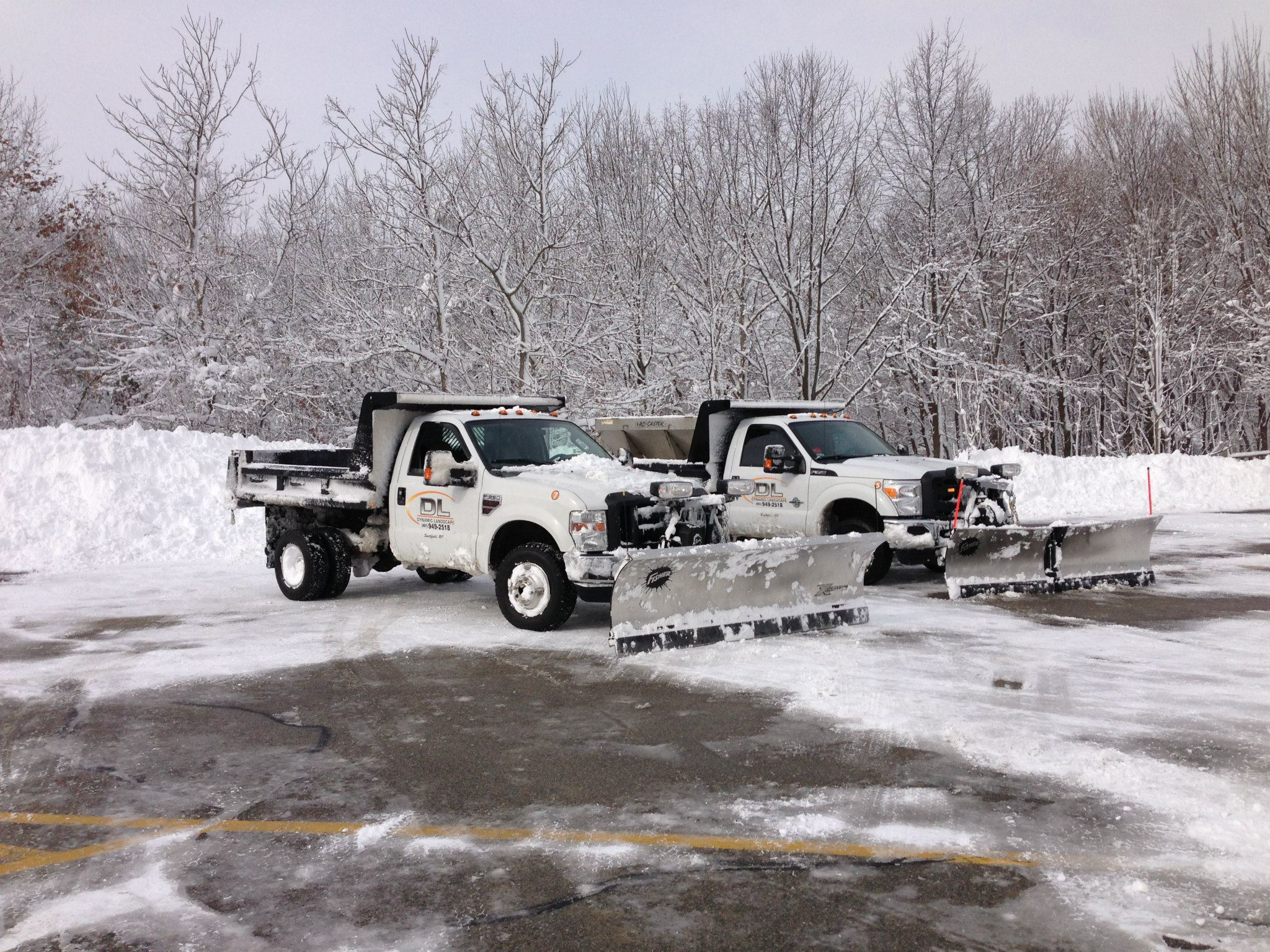 Commercial parking lot snow removal