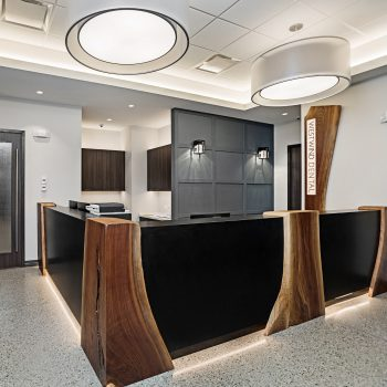 """Lumetta was specified by Wow Lighting Inc. to illuminate the space with our 42"""" Shadow Drum Pendants."""